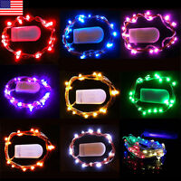 10/20/30 LED Battery Power Operated Copper Wire Mini Fairy Lights String Xmas