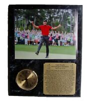 Tiger Woods 2019 Masters 8x10 professionally framed with an engraved nameplate