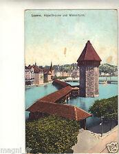 Suisse - LUZERN - Kapellbrücke und Wasserturm ( i 3641)