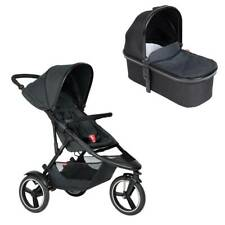 Ausstellungsstück Phil&teds Dash Buggy mit Sitzeinlage black + Babywanne black !