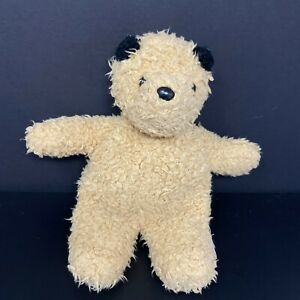 "Eden Tan Teddy Bear Black Ears Nose Scruffy Shaggy 11"" Stuffed Animal Baby Lovey"