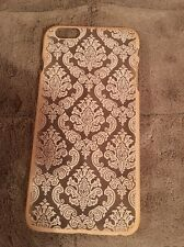 iPhone 6S Plus phone case Beige With Flower Deco Gently Used