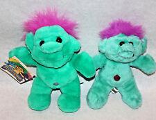 Lot of 2 Vintage Troll-Kins 1991 Tag ACME Apsco legend of the plush stuffed doll