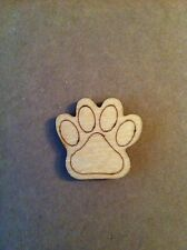 20 Wooden Dog paws laser cut, craft Shapes, woodwork, crafting