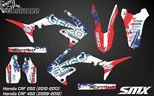 Honda CRF 250 CRF450 2009 2012 MX motocross graphics kit decals GEICO stickers
