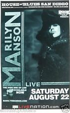 """Marilyn Manson 2009 """"The High End Of Low Tour"""" San Diego Concert Poster"""