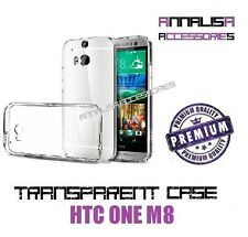 COVER TRASPARENTE PER HTC ONE M8 CUSTODIA CASE SILICONE TPU SLIM TRANSPARENT