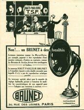 Publicité ancienne Hauts-parleurs TSF 1925 issue de magazine
