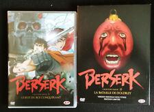 2 DVD-Berserk-L'Age d'Or-1 & 2-l'oeuf du Roi Conquérant-La bataille de DoLdrey