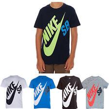 Nike SB Boys Kids T-Shirt Top Tee 100% Cotton Skateboarding Ages 3-15 Years New