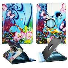 Butterfly Flower Art Apple iPad Air 5 Rotating   Folio Leather Case Cover .