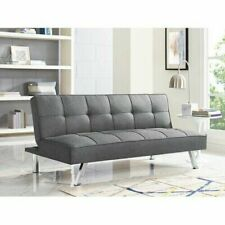 Sleeper Sofa Bed Grey Gray Convertible Couch Modern Living Room Futon Loveseat