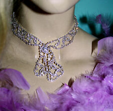 Necklace Choker Earring Set Austrian Crystal Rhinestone Bridal Pageant Prom