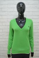 Maglione FRED PERRY Donna Taglia M Pullover Cardigan Sweater Woman Verde Lana
