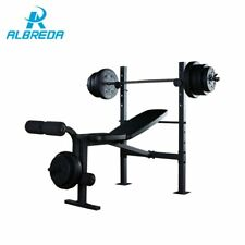 BENCH PRESS HOME GYM WORKOUT BENCH WEIGHT FITNESS BARBELL WEIGHTLIFT EQUIPMENT