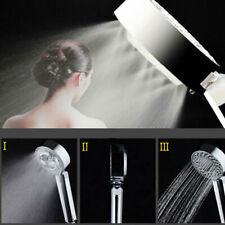 Silver Handheld SPA Shower Rainfall Head Setting Bathroom Water-Saving Sprayer