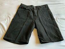 Levi's 550 Relaxed Fit Black Denim Shorts - Orange Tab, Size 36