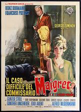 CINEMA-manifesto CASO DIFFICILE DEL COMMISSARIO MAIGRET ruhmann, prevost
