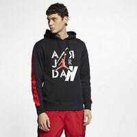 Nike Air Jordan Legacy AJ4 Logo Top Mens Hoodie Black Size M Sportswear Pullover