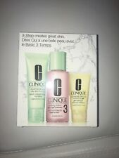NIB Clinique Dry, Sensitive,  Combination Skin Set 3 Piece #2