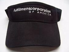 FULFILLMENT CORPORATION OF AMERICA - L/XL SIZE - BLACK - STRETCH FIT VISOR!