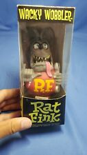 Rat Fink Ed Big Daddy Roth Funky Bobble Head Grey Action Figure wacky Wobbler