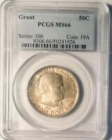 1922 Grant Commemorative Silver Half Dollar - PCGS MS-66 - Mint State 66