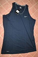 Nike Dri-FIT Women's Training Tank Top, Celestial Navy Blue/white - Size XL