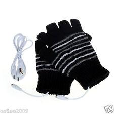 5V USB Powered Heating Heated Winter Hand Warmer Gloves Washable