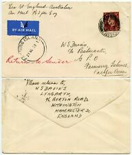 GB to FANNING ISLAND 1938 FIRST AIRMAIL FLIGHT GILBERT + ELLICE AUSTRALIA