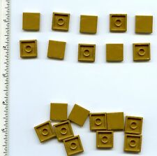 LEGO x 20 Pearl Gold Tile 2 x 2 with Groove NEW treasure