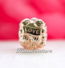 Authentic PANDORA Love&Family Rose Gold Charm 781039 Retired