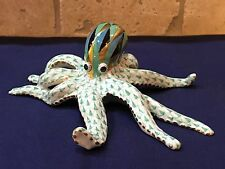 Herend Figurine- Octopus - Green Fishnet Mint