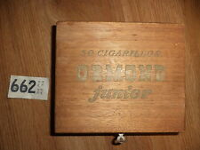 VINTAGE WOODEN CIGAR  BOX  ORMOND JUNIOR