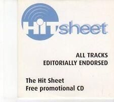(DW599) Hit Sheet Issue #37, Oct 2003, 9 tracks various artists - 2003 DJ CD