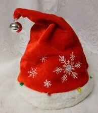 Vintage Christmas Santas Animated Motion Musical Lighted Hat Rare