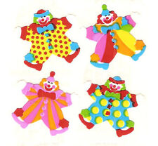 Sandylion Vintage Circus Clowns Scrapbooking Stickers 1 Square RETIRED