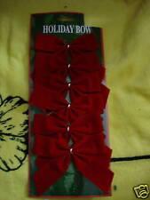 Red Bows For Christmas, Wedding And Other Occasions Lot Of 3