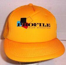 Profile Color Separations Snapback Trucker Cap Hat Yellow Black Indie Vintage