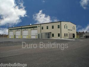 DuroBEAM Steel 60'x64'x20' Metal Prefab Rigid Building Shop Made to Order DiRECT