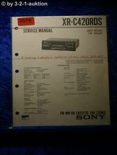 Sony Service Manual XR C420RDS Car Stereo (#3576)