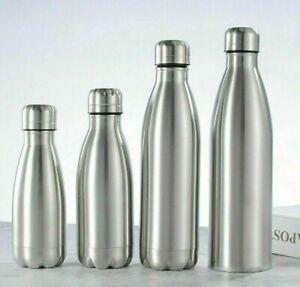 500/1000ML Portable Stainless Steel Water Bottle Outdoor Sport Gym Drink Bottle
