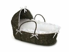 ESPRESSO Moses Basket with Hood and White Bedding
