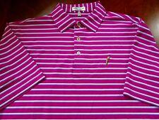 "Men's PETER MILLAR ""Summer Comfort"" Striped Polo Shirt Large!!!!!"