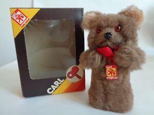Carl Wind-up 5-inch Plush Dancing Bear with Sweet Face &. Original Box
