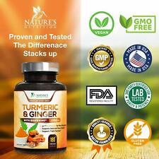 TURMERIC CURCUMIN with BIOPERINE & GINGER Black Pepper 1900 mg 95% Curcuminoids