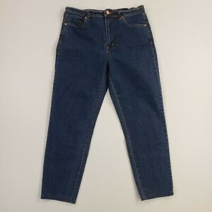 Womens Petite Womens Mid Rise Skinny Stretch Jeans Blue Denim Pants Cotton 28x23