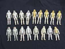 1977 1980 Vintage Star Wars STORMTROOPER Action Figure Army Hoth Snow Troopers +