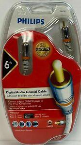 Philips Digital Audio Coax Cable 24K Gold Plated Series, DVD/CD/TV/AV M62797
