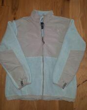 The North Face Girl's light Blue Gray Denali Fleece Jacket Sz XL Polartec